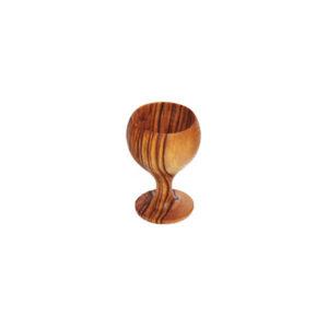 cretan handmade wooden raki cup