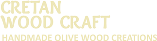 cretan wood craft, handmade wooden products made from cretan olive trees